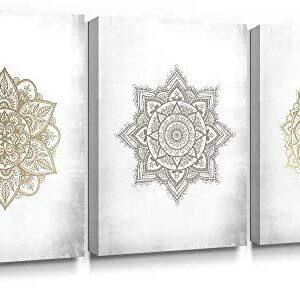 SUMGAR Mandala - Impresión artística sobre Lienzo, diseño de Bohemio D...