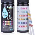 Sunis 50pcs Medidor de pH 6 en 1 Agua de Piscina Test Spa de Tiras de ...
