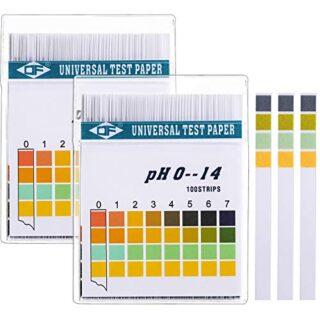 Tiras de Papel Reactivas de pH Universal para Probar Nivel de pH Alcal...