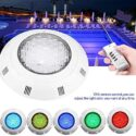 Zerodis- Luces led piscina sumergibles, 35W RGB 300 LED Lámpara de luz...