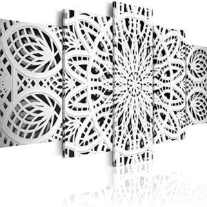 murando - Cuadro 200x100 cm - Mandala Impresión de 5 Piezas Material T...