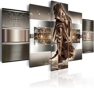 murando - Cuadro en Lienzo 200x100 cm Buda - Abstracto Impresión de 5 ...