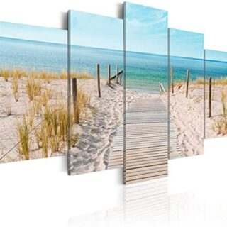 murando - Cuadro en Lienzo 200x100 cm Mare Costa Impresión de 5 Piezas...