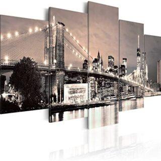 murando - Cuadro en Lienzo 200x100 cm New York Impresión de 5 Piezas M...