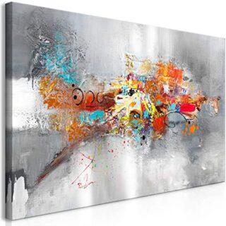 murando Cuadro en Lienzo Abstracto 120x60 cm 1 Parte Impresión en Mate...