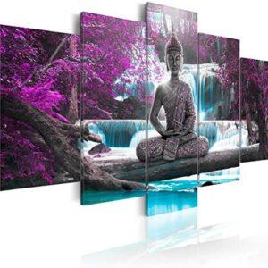 murando - Cuadro en Lienzo Buda 200x100 cm Impresión de 5 Piezas Mater...