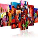 murando - Cuadro en Lienzo Colorido 200x100 - Impresión de 5 Piezas Ma...