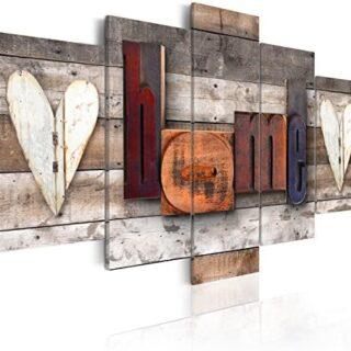 murando - Cuadro en Lienzo Home 200x100 cm Impresión de 5 Piezas Mater...