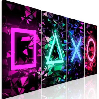 murando Cuadro en Lienzo for Gamers Consola de Juegos 160x60 cm 4 Part...