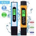 sumgott Medidor pH, TDS Medidor Agua TDS/PH/CE Temperatura 4 en 1 Set ...