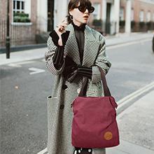 bolso de mujer, bolso de hombro tote bolso hobo para ir de compras vino rojo gris negro
