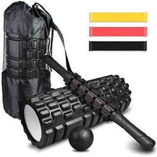 4-en-1 Foam Roller Kit , Rodillo Espuma, Rodillo Masaje, Bola de Masaj...