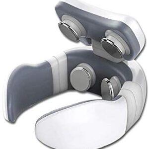 Masajeador de cuello, cervical inteligente eléctrico de cuatro cabezal...