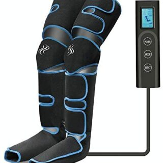 Masajeador de piernas, compresión de aire para piernas con controlador...