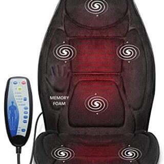 Snailax Cojín de asiento de masaje con espuma de memoria -masajeador d...