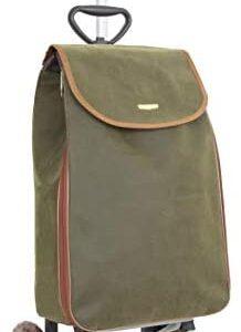 Carrito de la compra clásico (verde con bolsa...