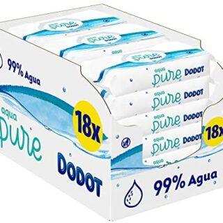 Dodot Aqua Pure - Toallitas Bebé con 99% Agua, 18...