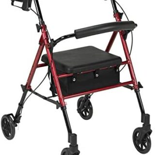 ROLATOR DE Aluminio con Asiento Regulable