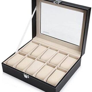 Readaeer Caja para relojes , caja relojes , guarda...