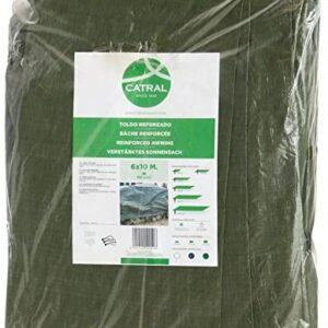 Toldo reforzado gramaje 120 grs, 3 x 5 m, color verde -...